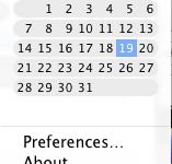 Macで日付をクリックでカレンダー表示『Day-O』