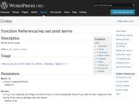 Function Reference/wp set post terms « WordPress Codex