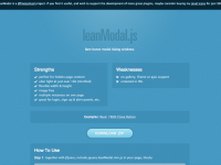 leanModal - a JQuery modal plugin that works with your CSS